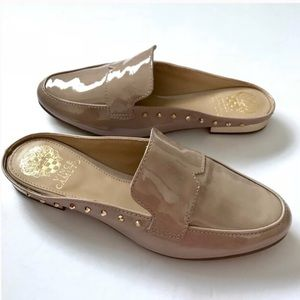 Vince Camuto Iden Loafer Mules Nude Patent Leather
